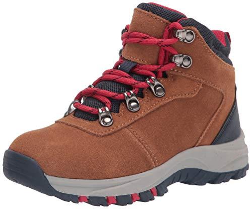 Amazon Essentials Kids' Round Toe Boot Hiking Shoe, Brown, 4 Medium US Big Kid