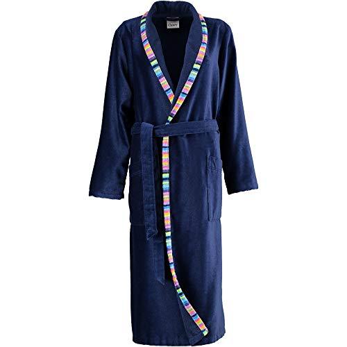 Michaelax-Fashion-Trade Cawö - Damen Bademantel mit Schalkragen in großen Größen, Dunkelblau (2359/Ü7604), Größe:54, Farbe:Marine (171)