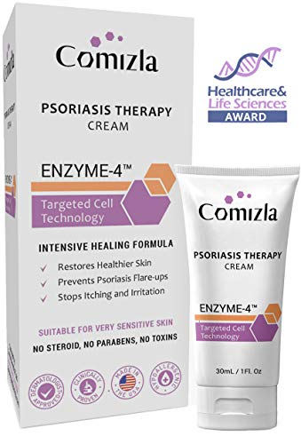 Comizla Psoriasis Cream for Itchy, Irritated Skin, 100% Steroid Free, Prevents Scalp and Plaque...