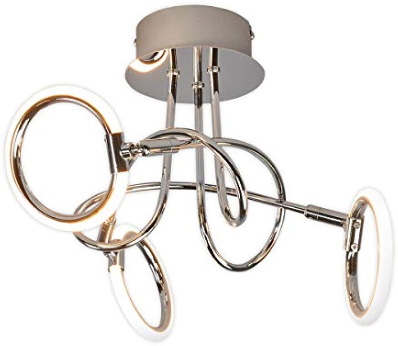 Lampenwelt LED Deckenleuchte 'Jana' (Modern) in Chrom aus Metall u.a. für Wohnzimmer & Esszimmer (3 flammig, A+, inkl. Leuchtmittel) - Lampe, LED-Deckenlampe, Deckenlampe, Wohnzimmerlampe