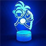 Mono Trepando Cocotero Luz Nocturna Para Niños, Lámpara De Luz 3D Con Interruptor tactil 7 Colores Cambiar Ideas De Regalos De Vacaciones Y Cumpleaños Para Niños