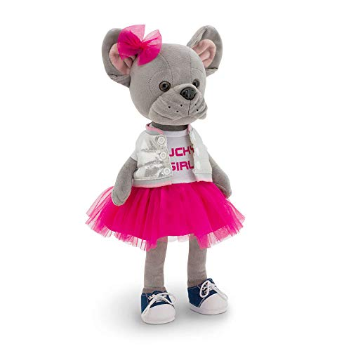 Wise Elk Lucky Betsy: Fashion Star Stuffed Animal, Dress Up Stuffed Puppy for Kids from 1 Year, Stuffed Animal Dog for Any Dog Lover, Stuffed Toy French Bulldog for Girls.