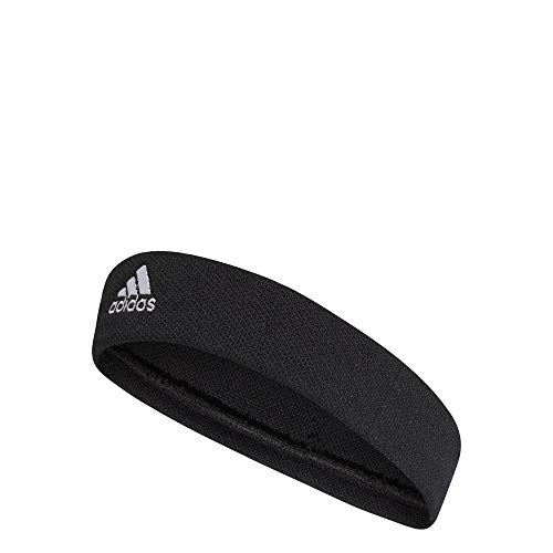 Adidas Tennis Headband Head Band, Unisex Adulto, Black/White, OSFM