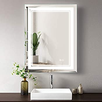 Smartcoom 24 x 32 Inch Touch Control LED Bathroom Mirror