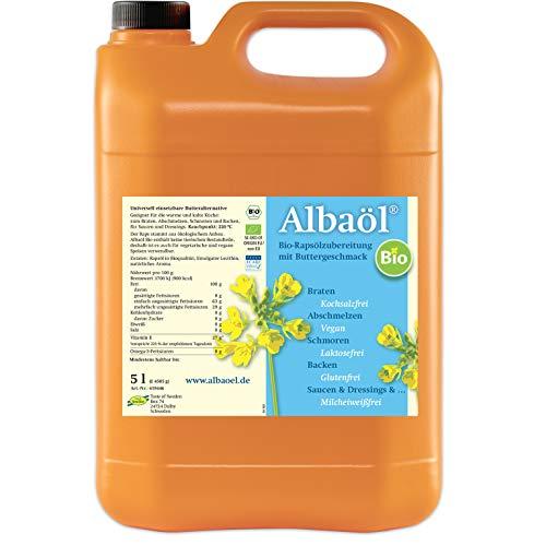 ALBAÖL BIO - schwedische Rapsöl-Zubereitung mit Buttergeschmack in Bio-Qualität 5L, 1er Pack (1x 5L Kanister)