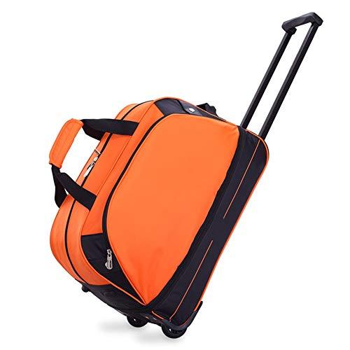 Maleta con Ruedas De Gran Tamaño Y Maletas con Ruedas Maleta De Viaje con Equipaje De 56 litros Maleta con Ruedas ZHANGAIZHEN (Color : Orange, Tamaño : 55.5 * 26.5 * 36cm)