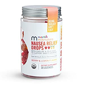 Milkmakers Nausea Relief Drops for Pregnancy with Ginger, Vitamin B6, Choline, and Folic Acid