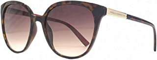 French Connection Womens Slim Oversized Sunglasses - Brown/Gold