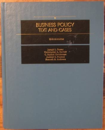 Business Policy: Text and Cases by Joseph L. Bower (1991-01-01)