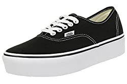 Black Vans Authentic Platform