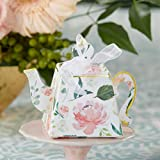 Kate Aspen Brunch Floral Teapot (Set of 24) Favor Box, One Size, Multi