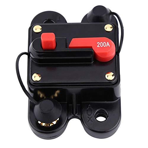 12V-24V 80-300A DC Coche Auto Marine Bicicleta Estéreo Audio Interruptor de Circuito Restablecer Fusible(200A)