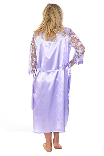 Nouvelle Collection Glitter Floral Satin 2 in 1 Nightsuit Lilac 26-28