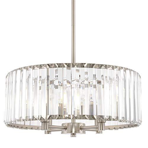 Kira Home Delilah 4-Light Modern Crystal Glass Drum Chandelier