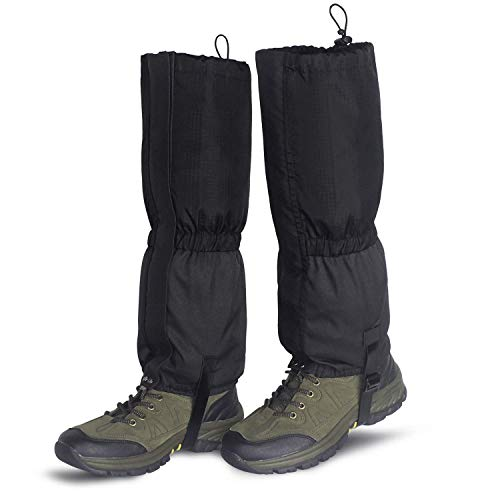 Unigear Zipper Gaiters Snow Boot Leg Gaiters Black, Large