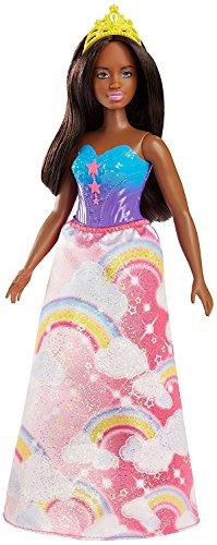 Barbie Dreamtopia, muñeca Princesa falda rosa arcoiris, juguete +3 años (Mattel FJC98)