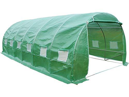 Viva Green-1257_67270-Althea-Invernadero para jardín, con Forma de túnel, de plástico, Color Verde