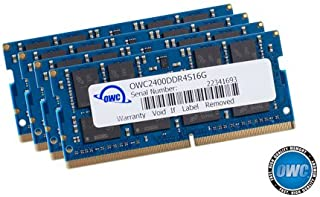 64 GB OWC PC4-19200 2400 MHz DDR4 CL17 SO-DIMM-minne Kit (4 x 16GB)