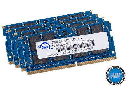 OWC - Memoria RAM de 32 GB (2 x 16 GB) 2400MHZ DDR4 SO-DIMM PC4-19200 para iMac de 2017 de 27 Pulgadas con visualización Retina 5K (OWC2400DDR4S32P)