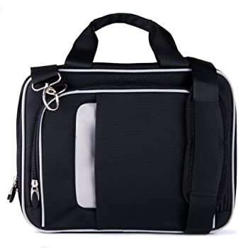 Vangoddy Light Weight Black Messenger Bag Carrying case for Amazon Kindle Fire  HD 6 7 8 HDX 8.9 10  HD Kids Edition Tablet s