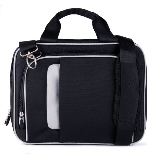 Vangoddy Pin Carrying Case with Removable Shoulder Strap Fits 13-13.3 Inches Laptops - Chromebook, Stream, Zenbook, MacBook, Inspiron (VGPin13BLK)