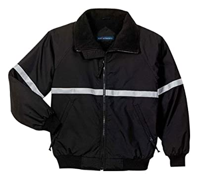 Port Authority Challenger Jacket with Reflective Taping, True Black/ True Black/ Reflective, X-Small from