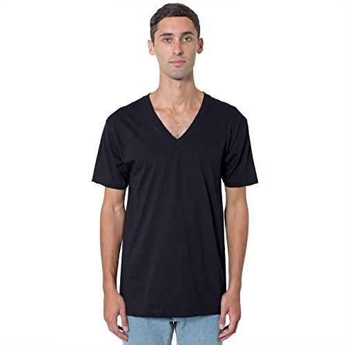 American Apparel Fine Jersey Short Sleeve Vneck 2456 - Cranberry - S