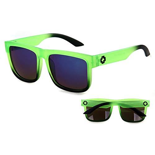 24 JOYAS Gafas de Sol Surf Polarizadas con Funda y Gamuza para Mujer y Hombre (Verde)