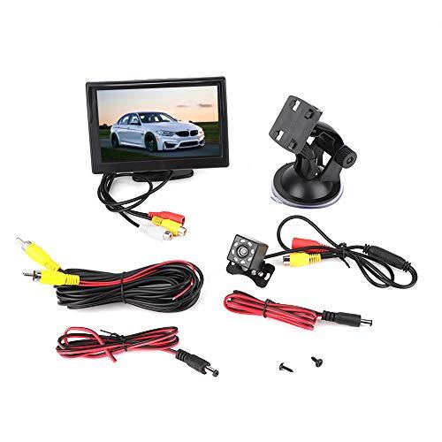 Car Player-5 in Car TFT LCD Monitor 2CH Entrada de video con 8LEDs Cámara impermeable de visión nocturna