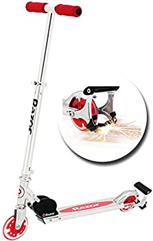 2-Count Razor Spark Kids Kick Scooter with Light Up Wheels & Spark Bar