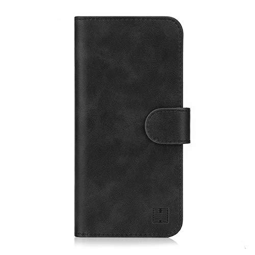 32nd Essential Series - PU Leder Mappen Hülle Flip Case Cover für Nokia 5.1 (2018), Ledertasche hüllen mit Magnetverschluss & Kartensteckplatz - Schwarz