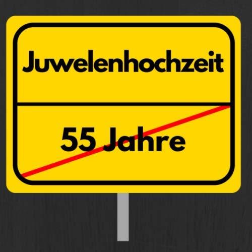 Juwelenhochzeit: Gästebuch - Erinnerungsbuch zum Eintragen von Glückwünschen und Grüßen zum 55....