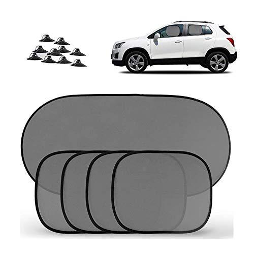 Les abat-jour de fenêtre de voiture pour le bébé animal familier, le rideau UV de voiture 5pcs protègent universel convient à la plupart des véhicules ~0530