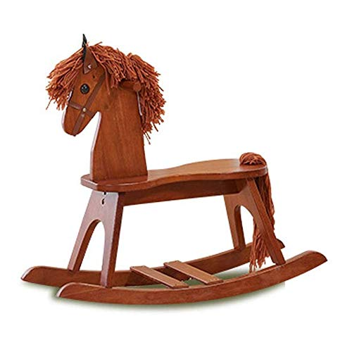 Baby Rocking Horse Ride Toy, Rocking Horse Environmentally-friendly Thickening Trojan Children's Solid Wood Educational Toys Rocking Chair Large Gift