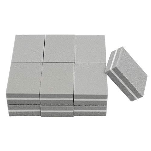 Boner 50st Mini nagel buffer blok spons kleine nagelvijl schuren schuurpapier nagellak polijstmachine nagelvijlen dubbelzijdige manicure, grijs
