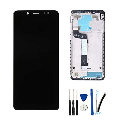 LCD Display Digitizer Touch Screen Glass Panel Assembly Replacement for Xiaomi Redmi Note5 Note 5 / Note 5 Pro 5.99' (Snapdragon 636) Black w/Frame