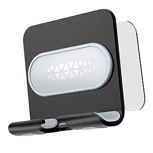 LWZko Soporte Teléfono Móvil, Soporte Teléfon, Aleación Aluminio Sin Perforación Tira de Adhesivo de Pared Soporte Teléfono Móvil para Adapta a la Cocina, Baño, Dormitorio