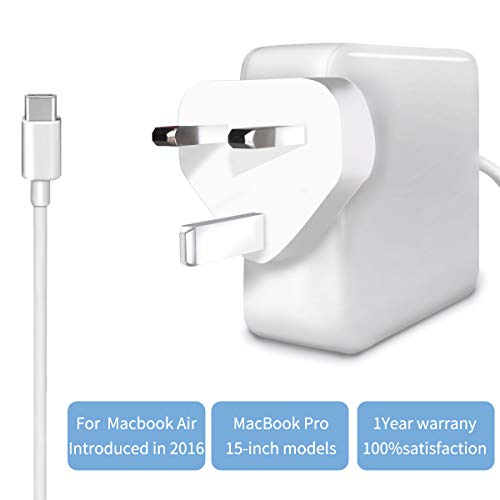 87W USB C Charger Power Adapter,Fast Type C PD Wall Charger for MacBook Pro 13', MacBook Air,HP Spectre,Dell XPS,Matebook and More with 6.6FT USB C-C Cable (87WC)
