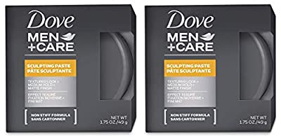 Dove Men + Care Sculpting Paste - Textured Look/Medium Hold/Matte Finish - Net Wt. 1.75 OZ (49 g) Each - Pack of 2