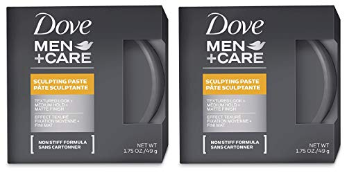 Dove Men + Care Sculpting Paste - Textured Look/Medium Hold/Matte Finish - Net Wt. 1.75 OZ (49 g) Each - Pack of 2
