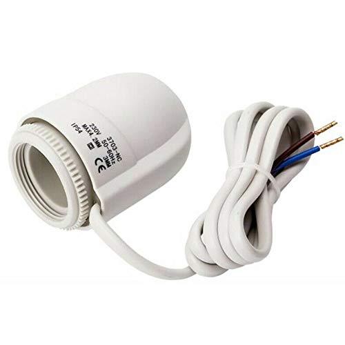 LZDseller01 230 V elektrischer thermischer Stellantrieb Fußbodenheizungsventil für Fußbodenheizungs-Thermostat-Thermostatventil, weiß
