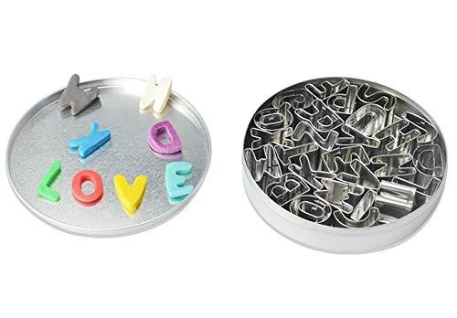 26 Stück Alphabet Ausstecher Set Edelstahl Separate Buchstaben Backform für Keks Kuchen Zucker Fondant