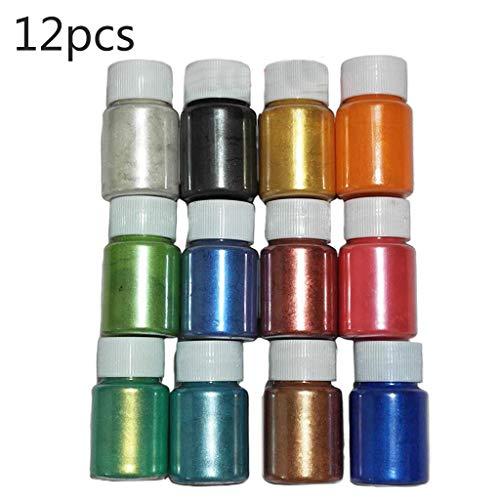 Haijun Epoxidharz Farbe 1 Set Perlglanzpulver Epoxidharz Farbstoff Perlpigment DIY Schmuck Handwerk