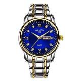 3 estilos de los hombres|azul|rojo|amarillo|moda casual reloj...