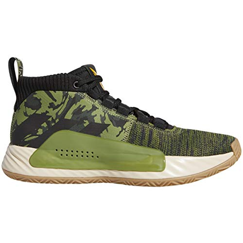 adidas Dame 5 Shoe - Men's Basketball Tech Olive/Core Black/Active Gold