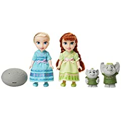 Disney Frozen Petite Anna & Elsa Dolls with Surprise Trolls Gift Set, Each Doll Is Approximately 6 inches Tall - Includes 2 Troll Friends! Perfect for any Frozen Fan! #2