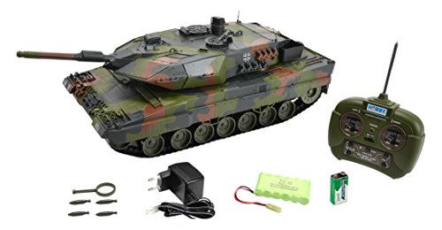 Carson 500907189 - Panzer, 1:16 Leopard 2A5, 27 MHz, 100% RTR