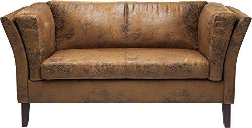 Kare Design Canapee 2plazas Vintage Eco sofá, Tela, Color marrón