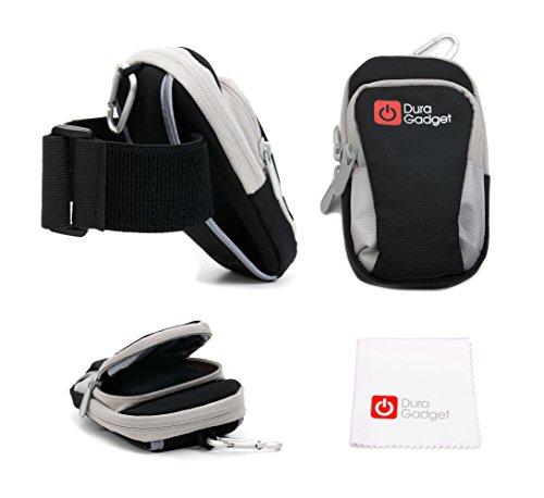 DURAGADGET Brassard de Sport en Nylon pour téléphone Portable/Smartphone Simvalley Dual SIM SX-310, SP-80, RX-180 Pico, RX-280 Pico, RX-80 Pico V.4 – Noir/Gris