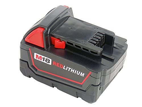Reemplace la batería 18V 5000mAh para Milwaukee M18 48-11-1828 48-11-1840 C18B M18BX Li18 (OEM) M18B4 M18 XC 48-11-1850 2646-22CT 2643-21CT 2641-21CT 2646-21CT 2646-20